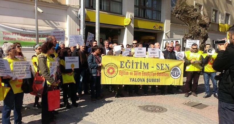 Yalova valisinin istifası için faks eylemi başlatıldı