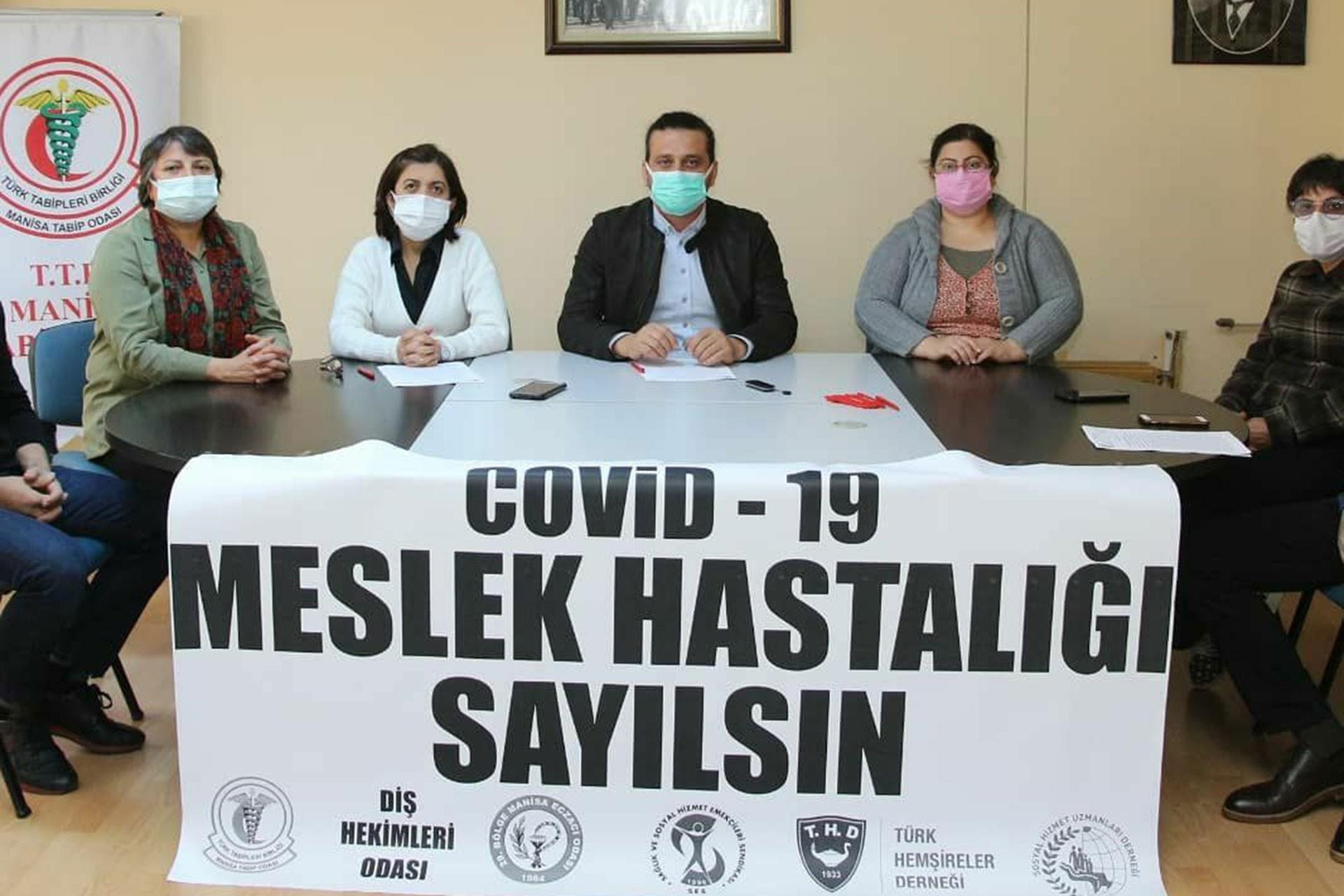 Manisa'da sağlık örgütleri ortak açıklama yaptı
