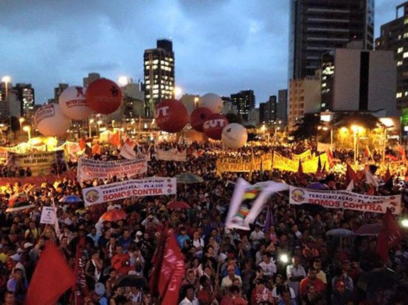 Brezilya'da taşeron yasasına karşı genel grev