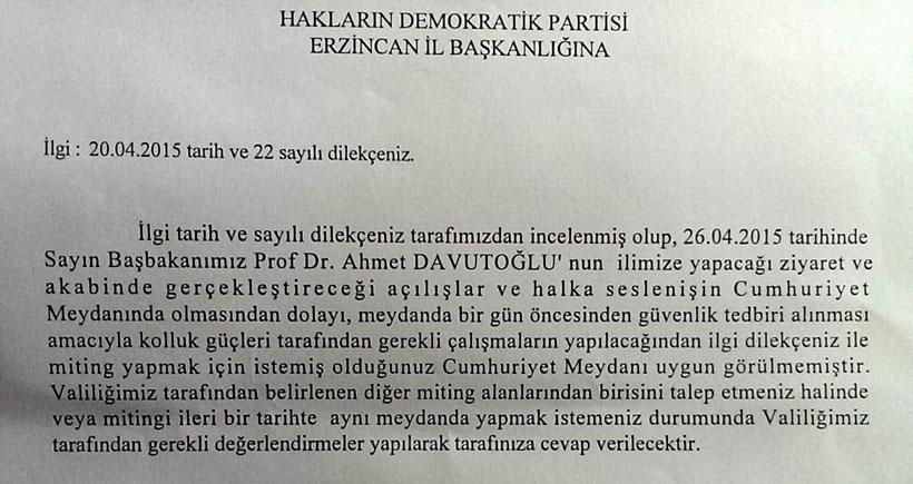 'AKP'nin programı var' diye HDP mitingine izin verilmedi