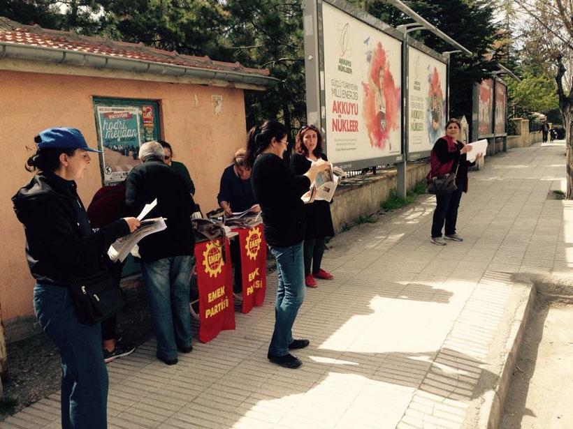 Çorum'da Emek Partili kadınlar 1 Mayıs bildirisi dağıttı