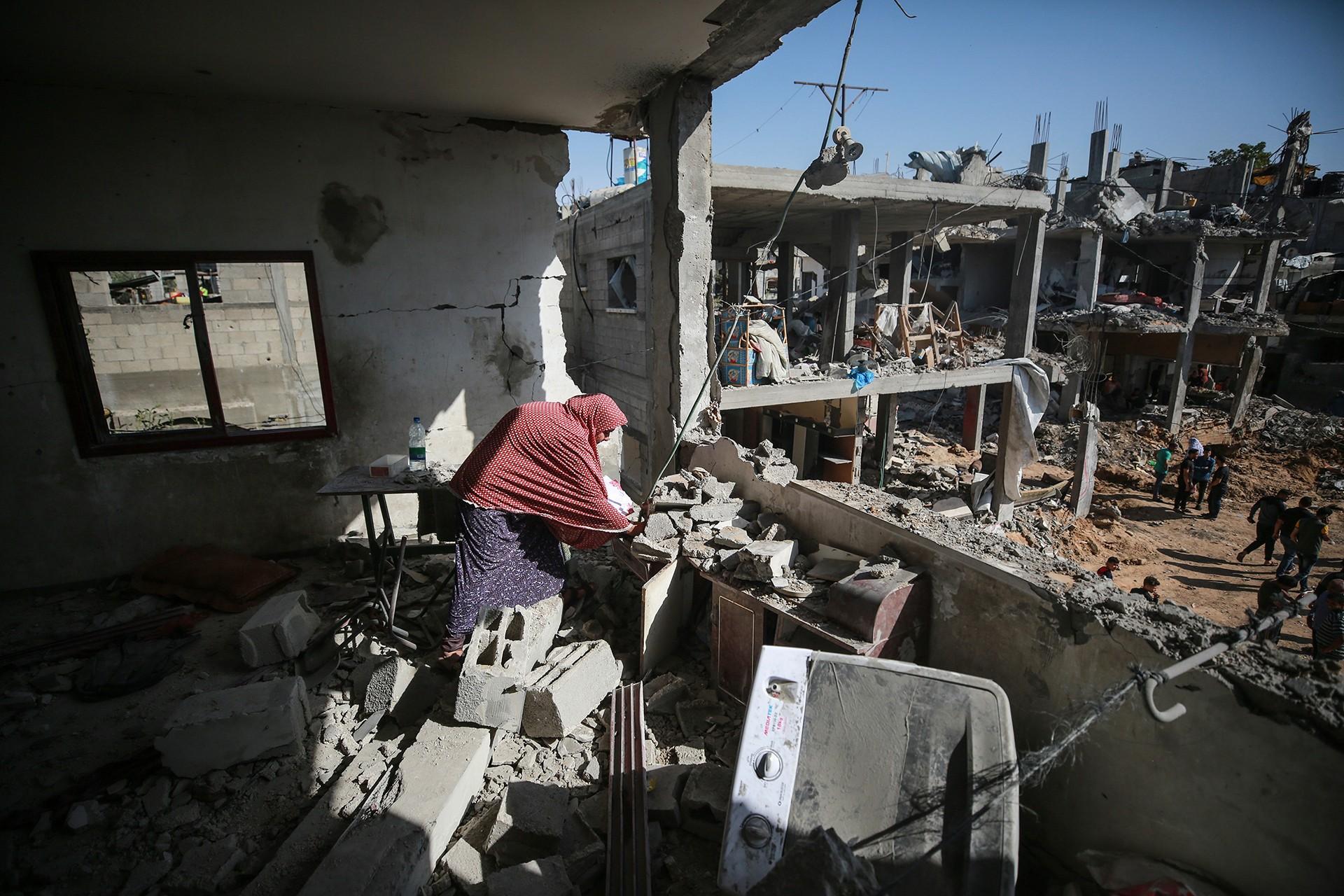 İsrail'in Gazze'ye 11 gün süren saldırılarının bilançosu: 232 kişi hayatını kaybetti - Evrensel