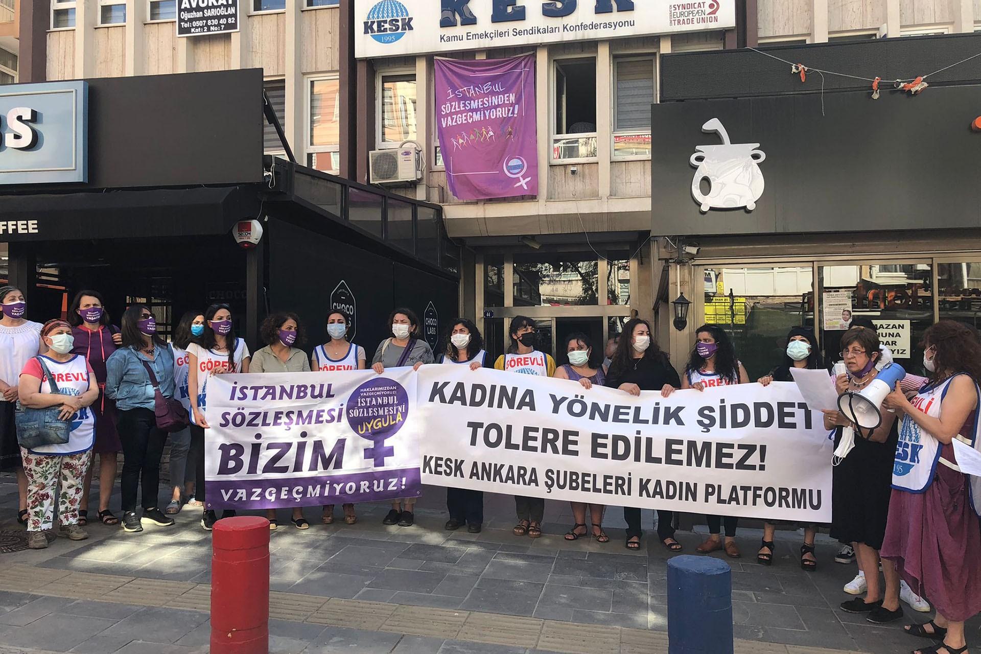 KESK Ankara Şubeleri Kadın Platformu açıklama yaptı