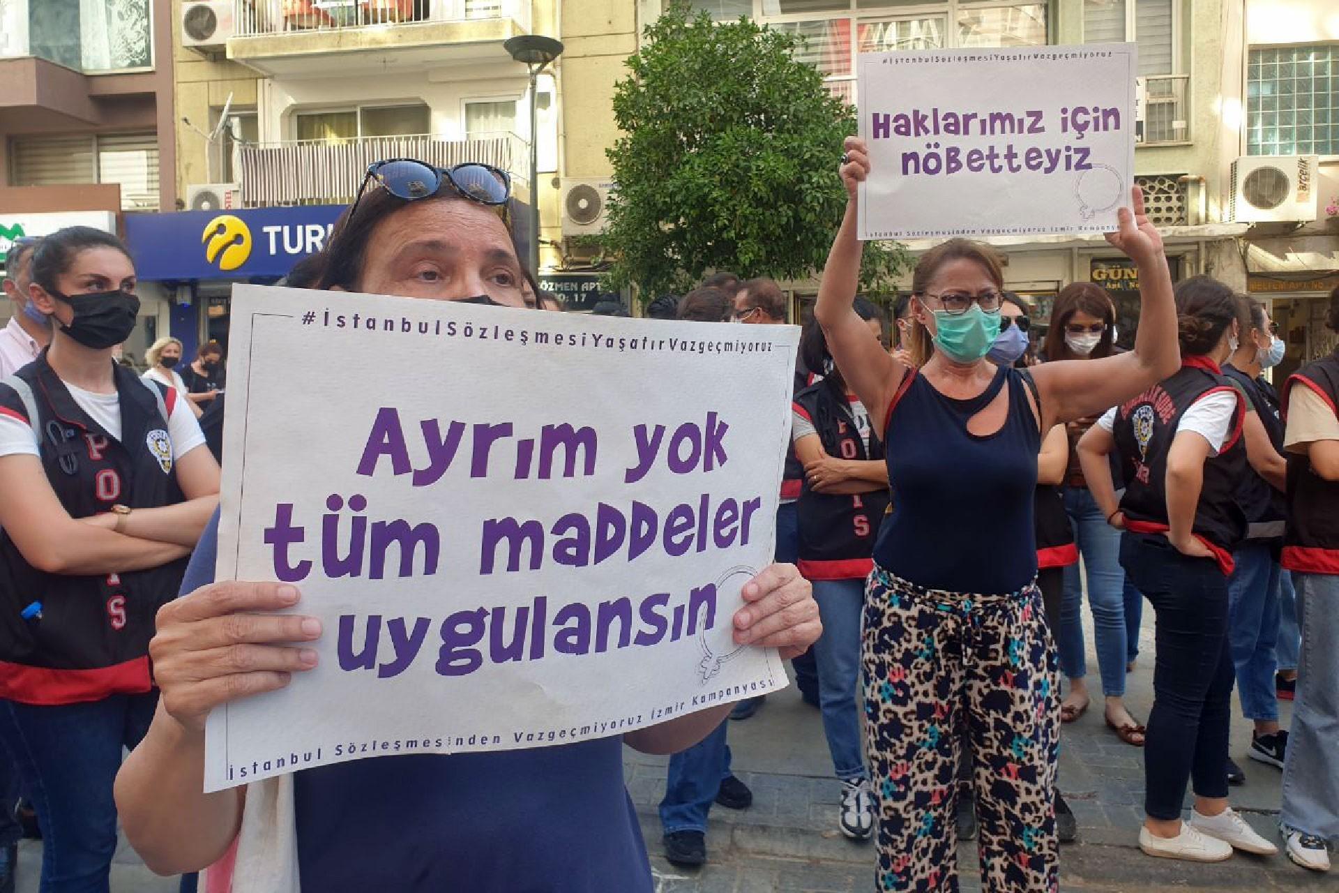 istanbul sözleşmesi eylemi