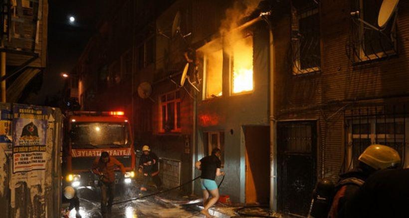 Suyu akmadığı için yangını söndüremedi: 1 kişi ağır yaralı