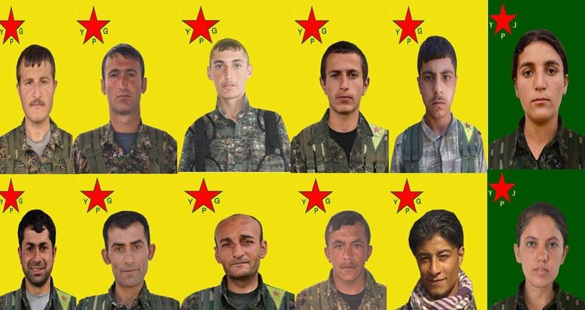 Yaşamını yitiren 12 YPG'linin kimliği açıklandı