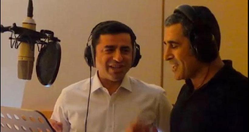 Demirtaş, yeni seçim şarkısı için stüdyoya girdi