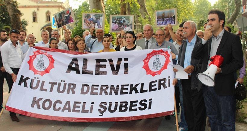 İştebrak katliamı Kocaeli'de protesto edildi