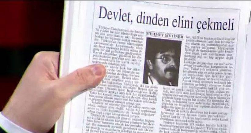 Altan Tan'dan AKP'li Akdoğan ve Metiner'e Diyanet yanıtı