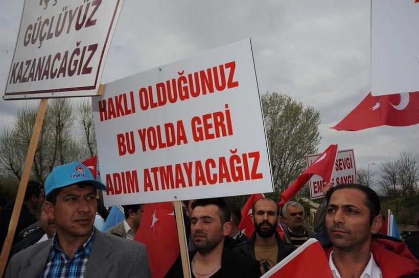 Abana Motor işçileri greve çıktı