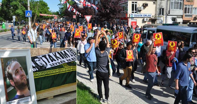 Bıçaklanarak öldürülen ÖDP'li Bahadır Grammeşin son yolculuğuna uğurlandı