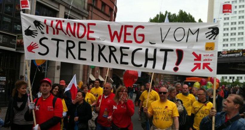 Almanya'da grev hakkına saldırı
