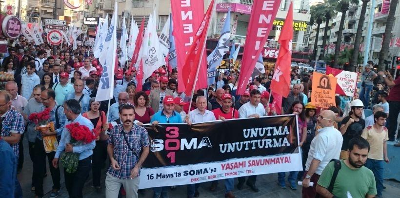İzmir'de binler Soma için yürüdü