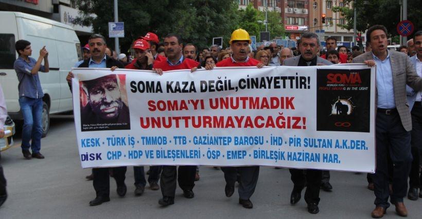 Soma katliamı Antep'te de unutulmadı