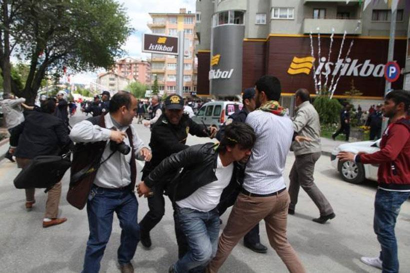 Kırşehir'de HDP mitingi sonrası olaylar çıktı
