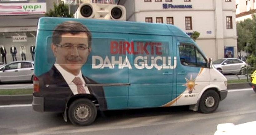 Cumhurbaşkanı'nın miting duyurusunu AKP seçim araçları yapıyor