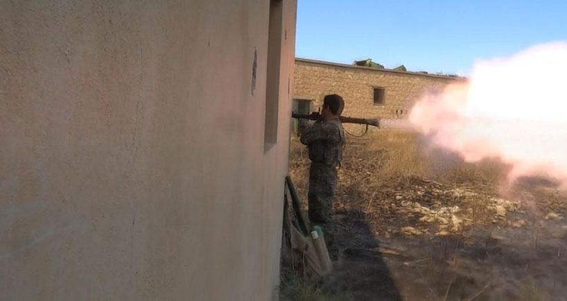Süryani köyünde YPG ile IŞİD arasındaki çatışmalar sürüyor