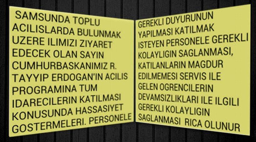 Erdoğan'ın mitingi için okullar tatil edildi