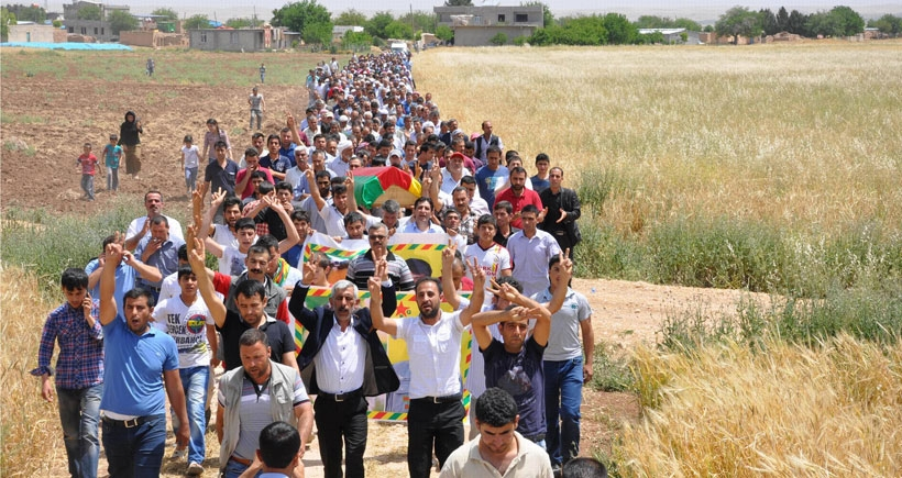 YPG'li Salar'ın cenazesi toprağa verildi