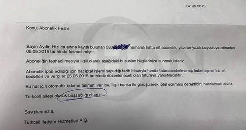 Turkcell, abonelikten ayrılan müşterisine 'başsağlığı' mesajı gönderdi