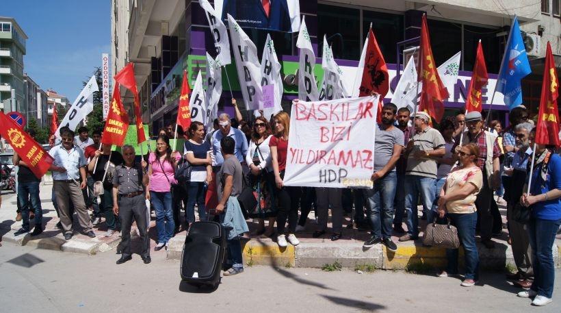 Çorum'da HDP'ye saldırı protesto edildi