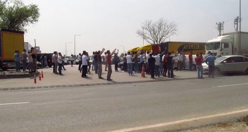 Sakarya'dan Ankara'ya Türk Traktör işçileri eylemde