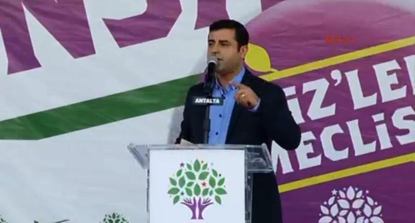 Demirtaş, Kazlıçeşme'deki miting yasağına Antalya'da yanıt verdi