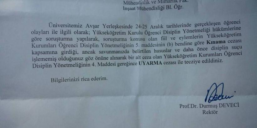 Sütçü İmam'da 75 Kürt öğrenciye final haftasında ceza!