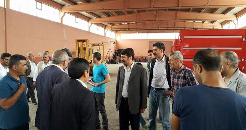 HDP adayı Zülfikar fabrika fabrika gezip işçilerle buluştu