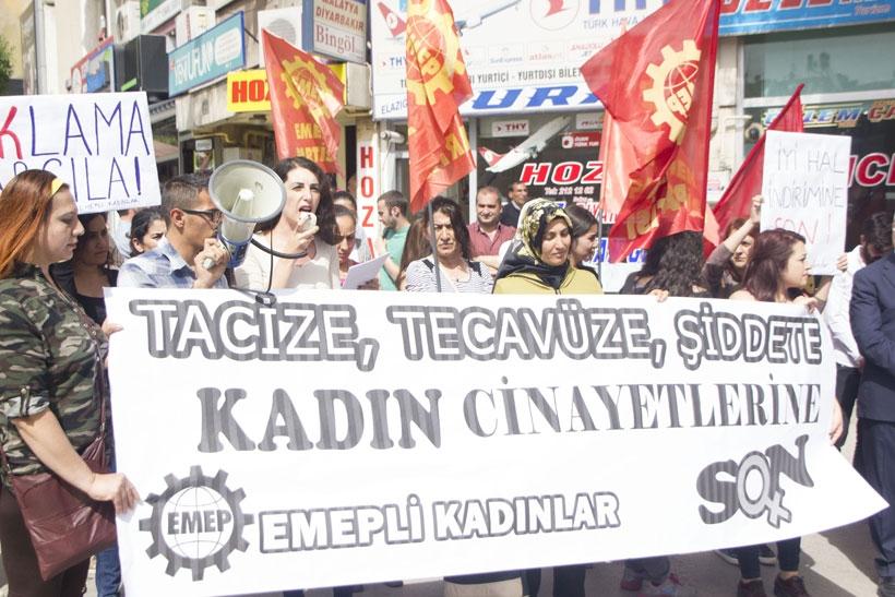 Elazığ'da kadın cinayetleri protesto edildi