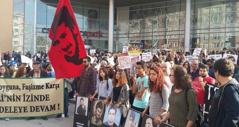 Eskişehir'de Ali İsmail yürüyüşün en önündeydi