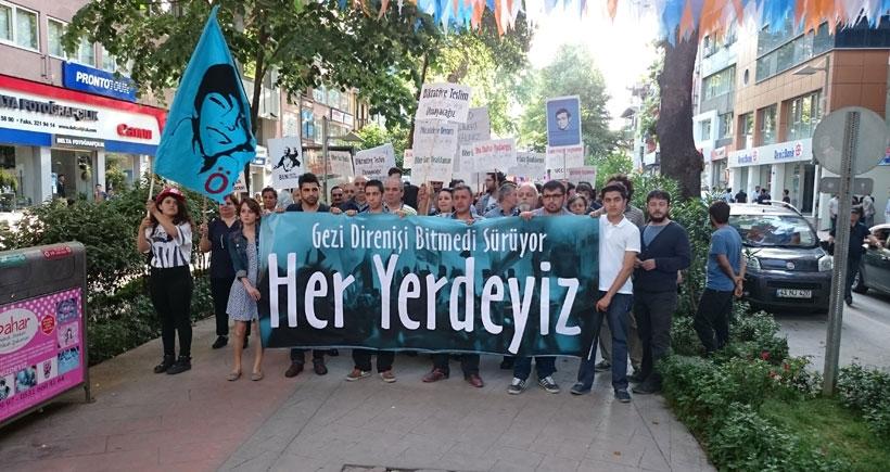 Kocaeli'de vatandaşlar Gezi direnişinin yıldönümünde sokağa çıktı.