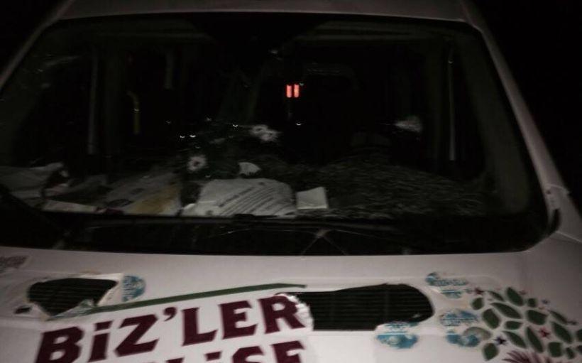 Bingöl'de HDP'nin seçim aracına silahlı saldırı: 1 ölü