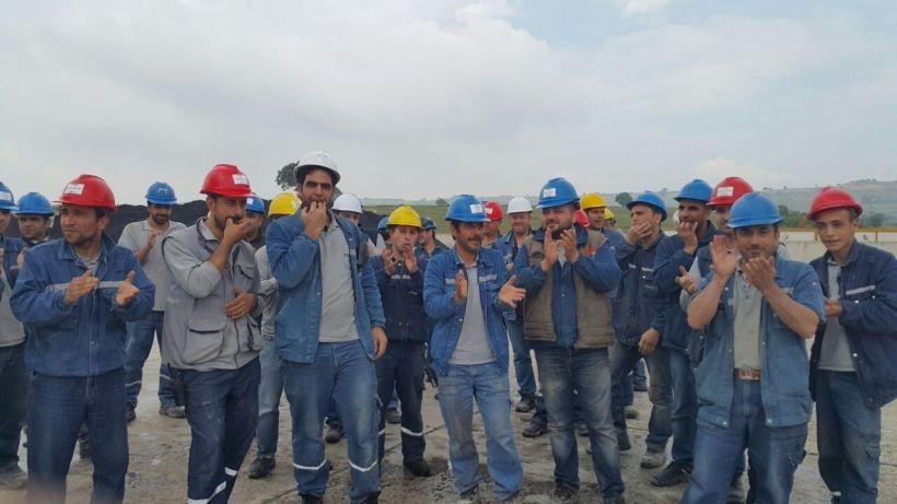 Sançim Bilecik Çimento işçilerinden baskılara karşı yemek boykotu