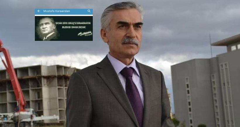 Müdürün hesabından 'Atatürklü' paylaşımına soruşturma