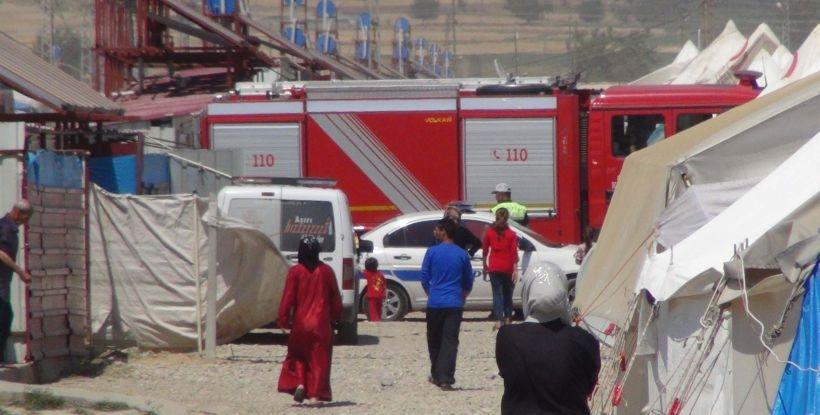 Maraş'taki çadırkentte yangın: Suriyeli 2 kardeş öldü