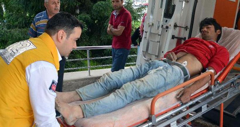 Üstüne yıldırım düşen mevsimlik işçi ağır yaralandı