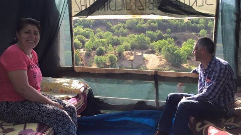 Baraj mağduru aile açlık grevinde