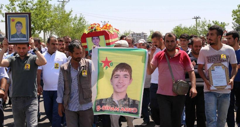 19 yaşındaki YPG'li Tuğrul son yolculuğuna uğurlandı