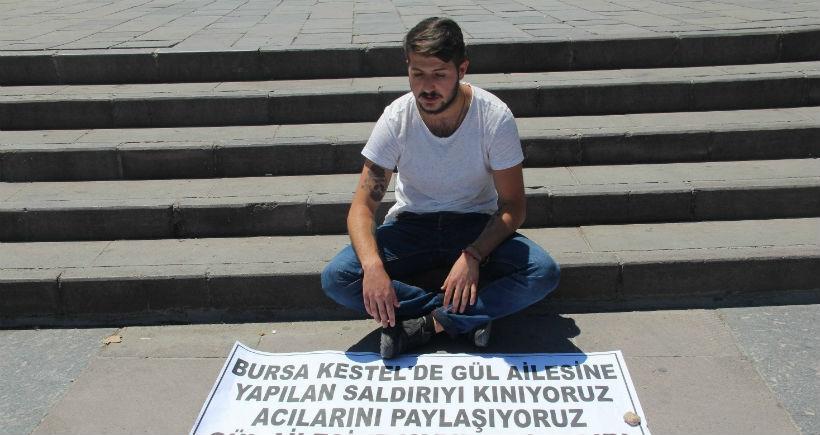 Alevi aileye dönük saldırıya karşı oturma eylemine geçti