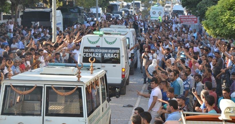 Suruç'ta ölenlerin cenazeleri Adli Tıp Kurumuna kaldırılıyor