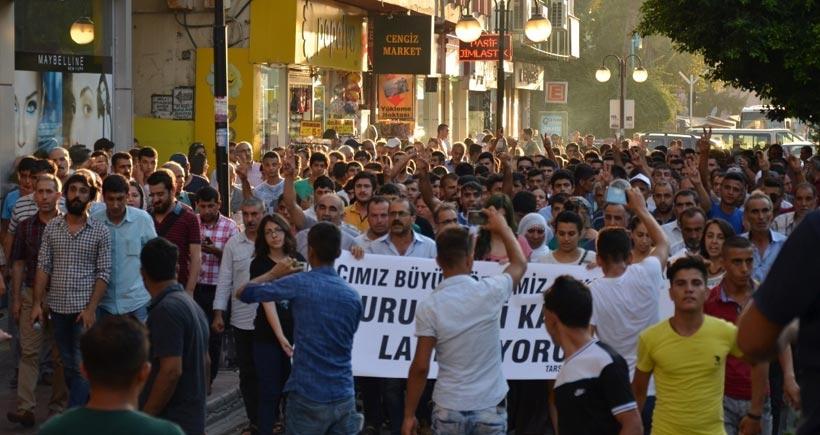 Mersin'deki Suruç eylemlerinde çatışma çıktı