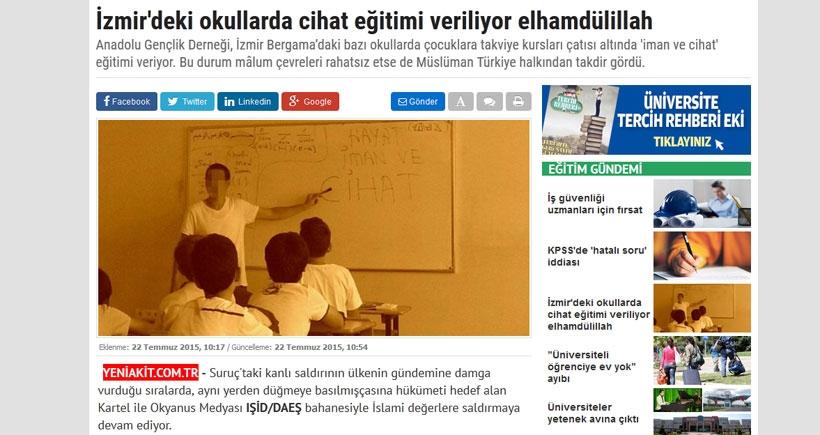 Akit: Okullarda cihat eğitimi veriliyor elhamdülillah!