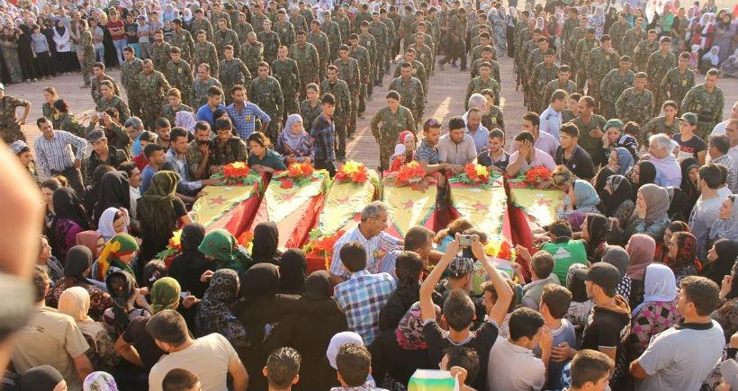 5 YPG savaşçısı toprağa verildi