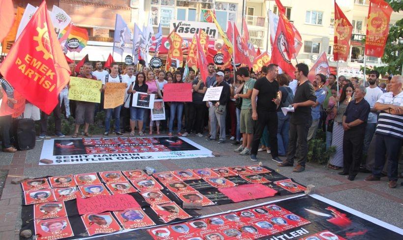 İzmir'de emek ve demokrasi güçleri Suruç Katliamı'nı lanetledi