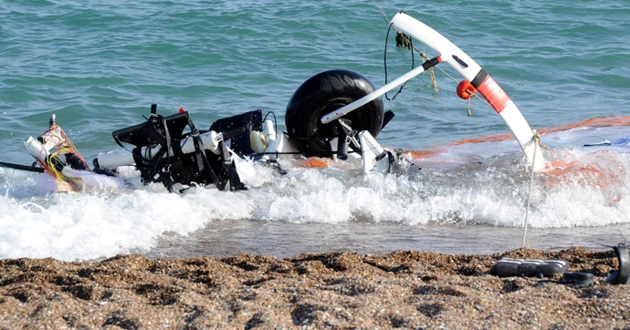 Antalya'da paramotor düştü: 2 ölü