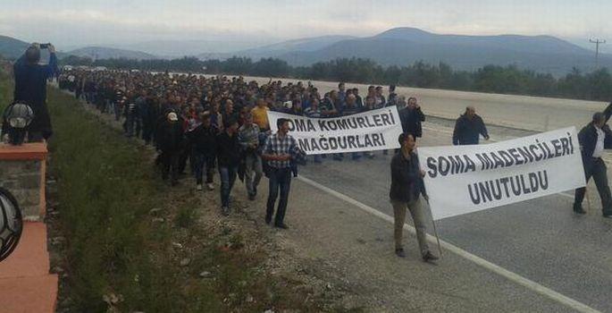 Soma işçileri yönünü Ermenek'e çevirdi