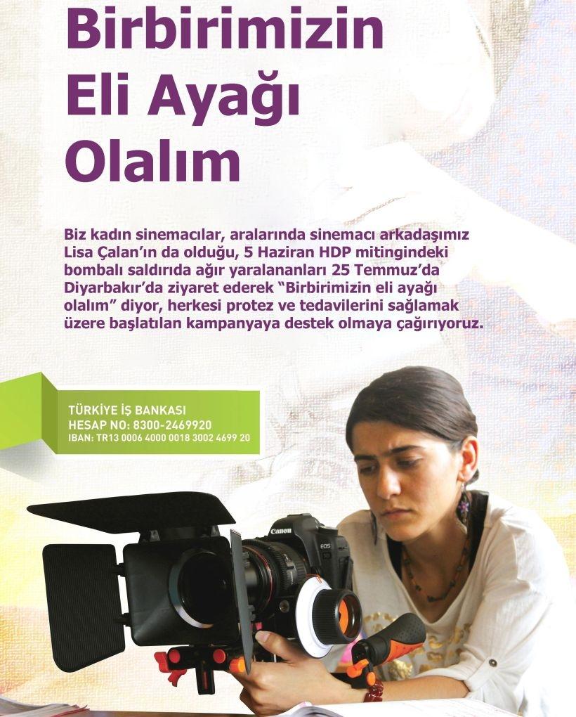 Kadın Sinemacılar Diyarbakır ve Suruç'a gidiyor