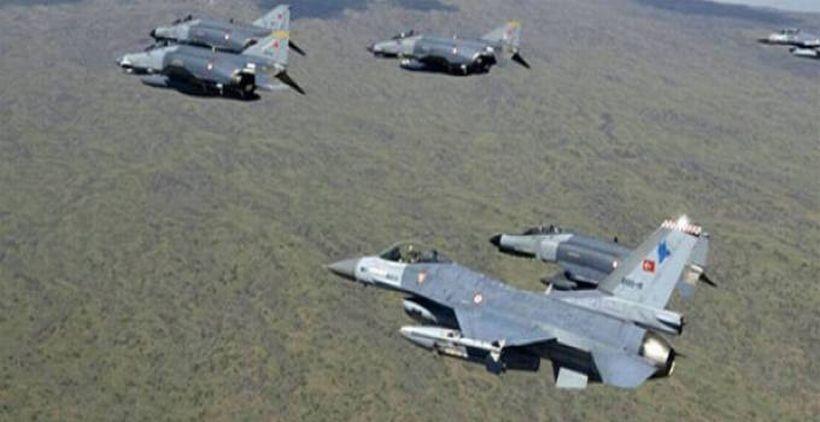 TSK uçakları gerilla bölgelerini bombalıyor