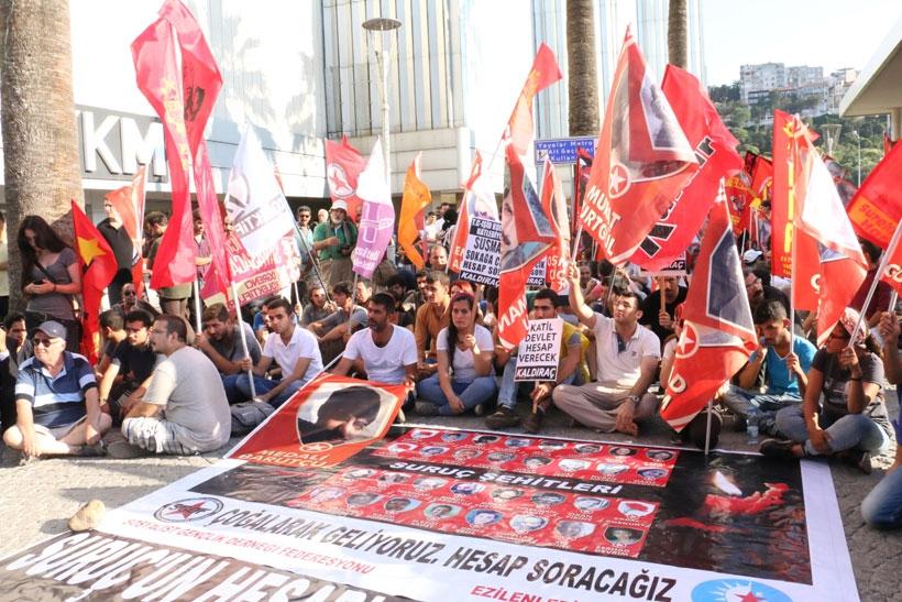 İzmir'de Suruç eylemine emniyet engeli